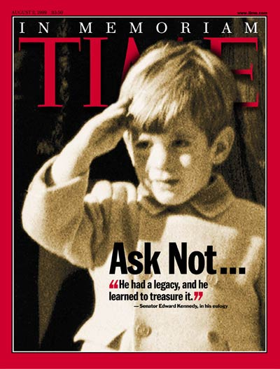 TIME Magazine Cover: John F. Kennedy Jr. -- Aug. 2, 1999
