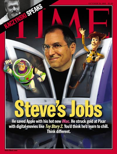 TIME Magazine Cover: Steve Jobs -- Oct. 18, 1999