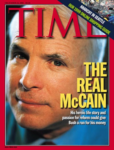 TIME Magazine Cover: Senator John McCain -- Dec. 13, 1999