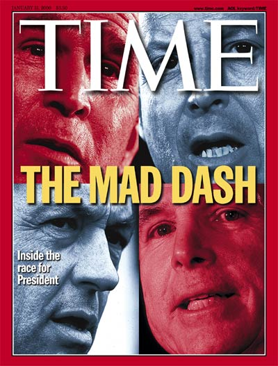 TIME Magazine Cover: Bush, Gore, McCain & Bradley -- Jan. 31, 2000