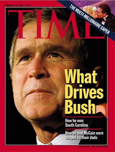 TIME Magazine Cover: George W. Bush -- Feb. 28, 2000