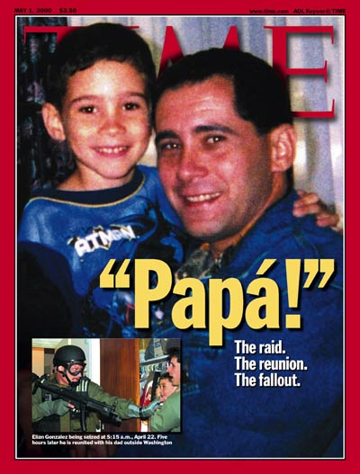 TIME Magazine Cover: Elian & Juan Miguel Gonzalez -- May 1, 2000