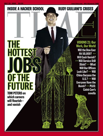 TIME Magazine Cover: Jobs of the Future - May 22, 2000 - Internet ...