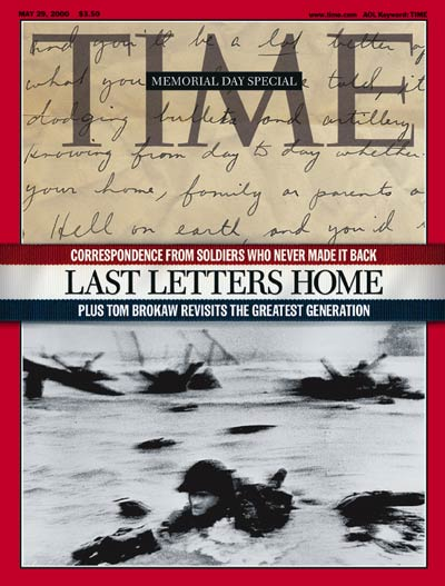 TIME Magazine Cover: America Remembers the Soldiers -- May 29, 2000