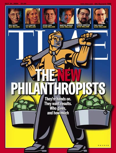 TIME Magazine Cover: The New Philanthropists -- July 24, 2000