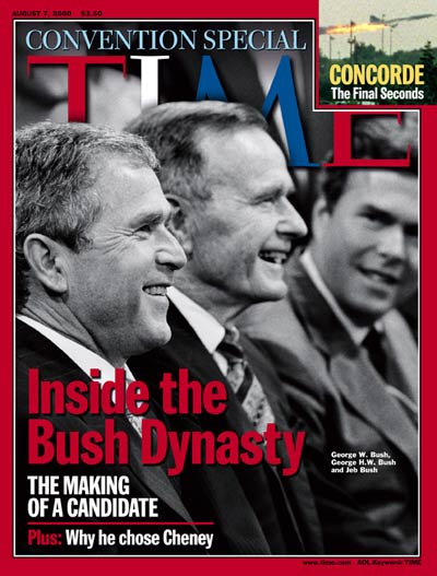 TIME Magazine Cover: The Bush Dynasty -- Aug. 7, 2000
