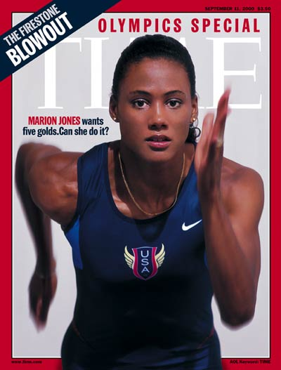 American Olympic track star Marion Jones.