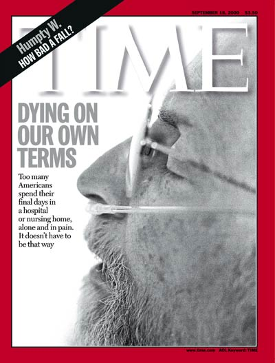 TIME Magazine Cover: Dying in America -- Sep. 18, 2000