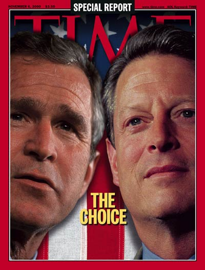 TIME Magazine Cover: George W. Bush & Al Gore -- Nov. 6, 2000