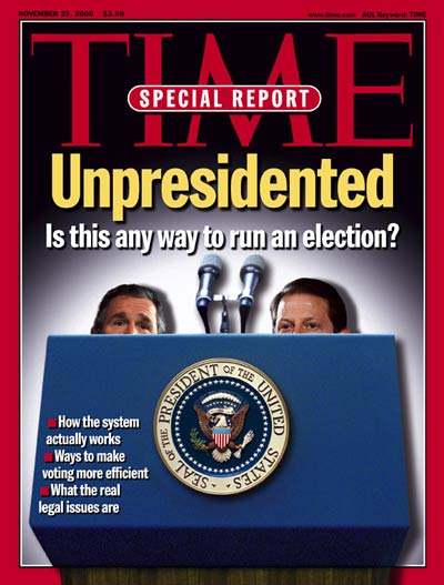 TIME Magazine Cover: George W. Bush & Al Gore -- Nov. 27, 2000