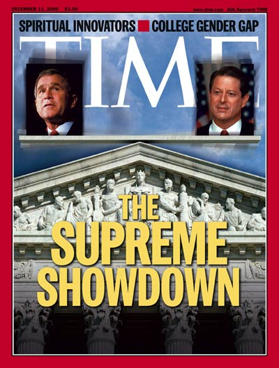Time Magazine Cover George W Bush Al Gore Dec 11 2000
