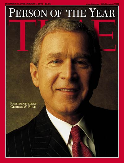 TIME Magazine Cover: George W. Bush, Person of the Year -- Dec. 25, 2000