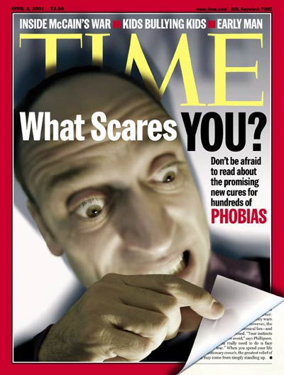 TIME Magazine Cover: Phobias -- Apr. 2, 2001