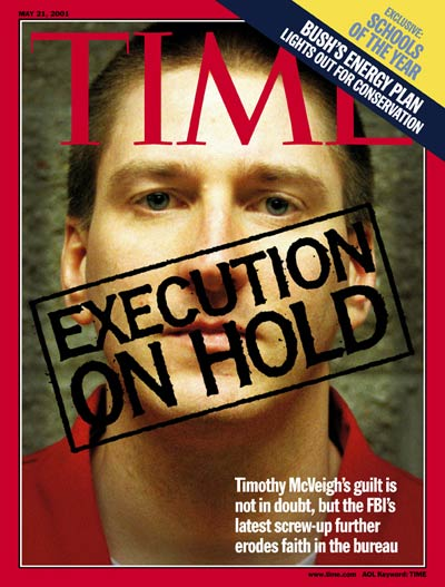 TIME Magazine Cover: Timothy McVeigh -- May 21, 2001