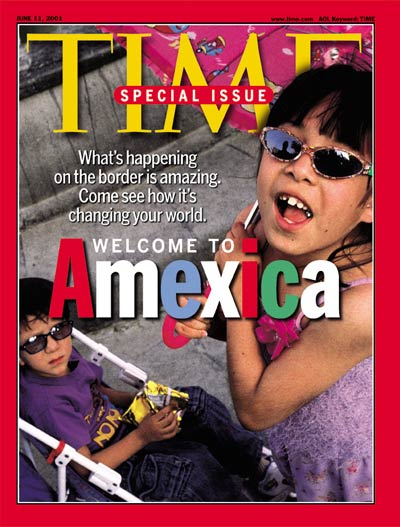 AMEXICA. Lax control of Mexican-American border area. Children in downtown Juarez, Chihuahua State, Mexico. (from Magnum)