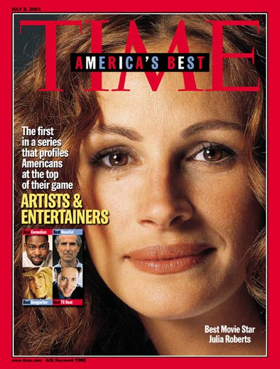 TIME Magazine Cover: Julia Roberts -- July 9, 2001