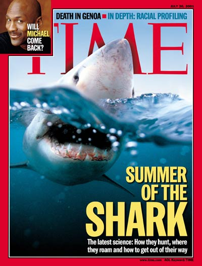 Summer of the Shark'. Inset: Michael Jordan by Marc Hauser.