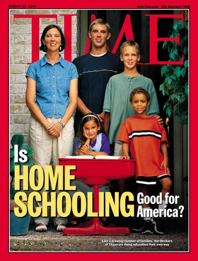 TIME Magazine Cover: Home Schooling -- Aug. 27, 2001