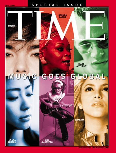 TIME Magazine Cover: Special Edition: Music Goes Global -- Sep. 15, 2001