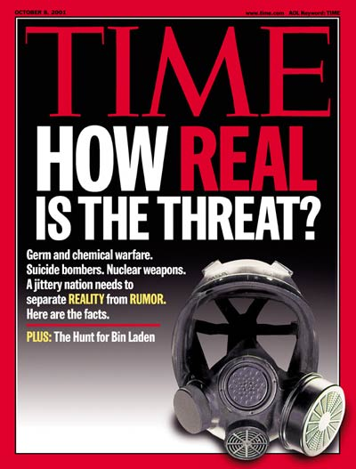 TIME Magazine Cover: How Real Is the Threat? -- Oct. 8, 2001