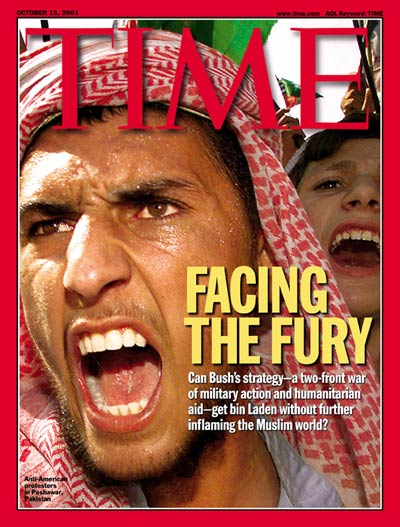 TIME Magazine Cover: Facing the Fury -- Oct. 15, 2001