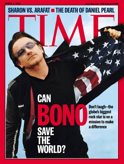 Singer/activist Bono of the band U2.