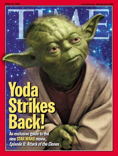 Star Wars character Yoda in  'Star Wars: Episode II Attack of the Clones'