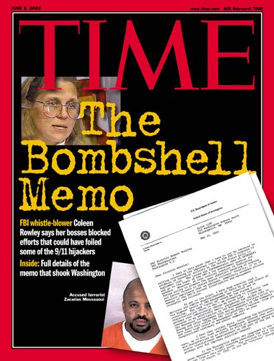 FBI 9/11 memo whistleblower Coleen Rowley by CNN. Inset: Accused terrorist Zacarias Moussaoui by Reuters/Sherburne County Sheriff's office.
