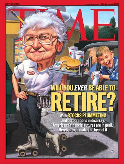 Will You Ever Be Able to Retire?' Faltering economy's effect on workers wishing to retire. Rapidly rising age of retirement as a financial necessity.