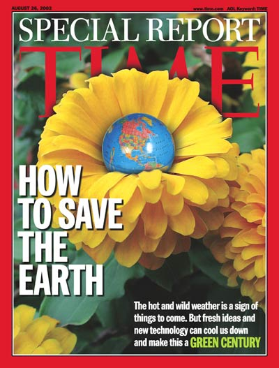 The Earth in the center of a flower. Preservation of the planet's ecosystems and climate.