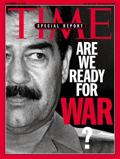 Iraq leader Saddam Hussein, from Media Bank, Reuters-NewMedia Inc/Corbis.