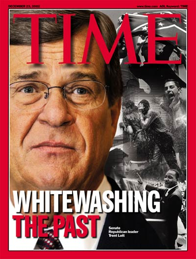 TIME Magazine Cover: Trent Lott -- Dec. 23, 2002