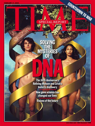 The 50th anniversary of the discovery of DNA.