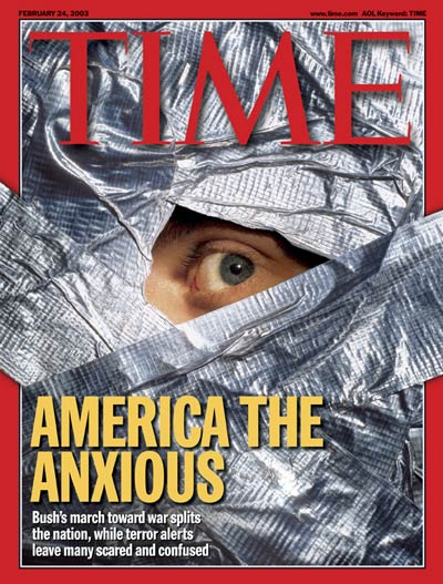 TIME Magazine Cover: Living in Terror -- Feb. 24, 2003