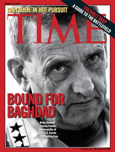 Bound For Baghdad' U.S. General Tommy Franks, commander of America troops in Iraq.