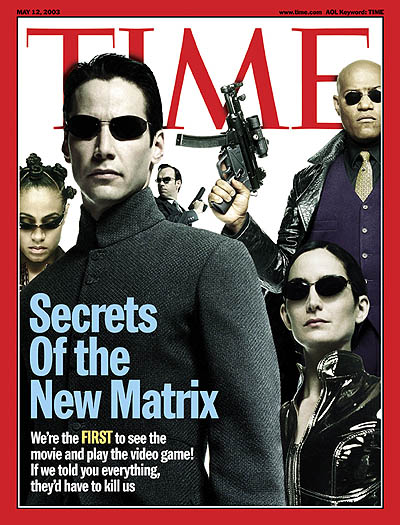 Cast of the film 'Matrix Reloaded'  FISHBURNE, LAURENCE; MOSS, CARRIE ANNE; PINKETT, JADA; REEVES, KEANU; WEAVING, HUGO