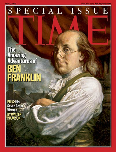 TIME Magazine Cover: The Amazing Adventures of Ben Franklin -- July 7, 2003