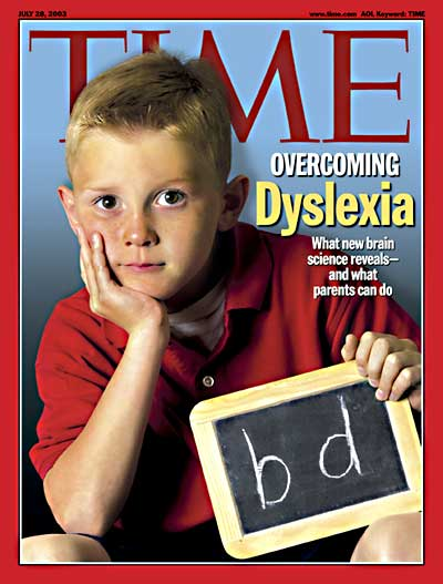 TIME Magazine Cover: Overcoming Dyslexia -- July 28, 2003