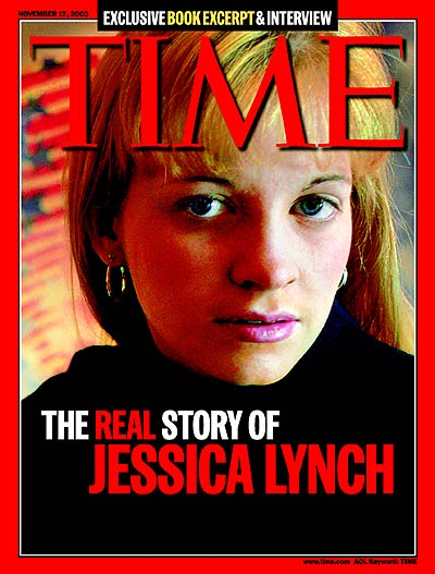 TIME Magazine Cover: The Real Story of Jessica Lynch -- Nov. 17, 2003