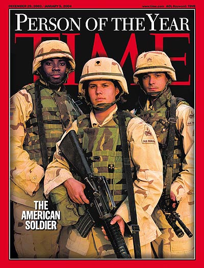 TIME Magazine Cover: Person of the Year: The American Soldier -- Dec. 29, 2003