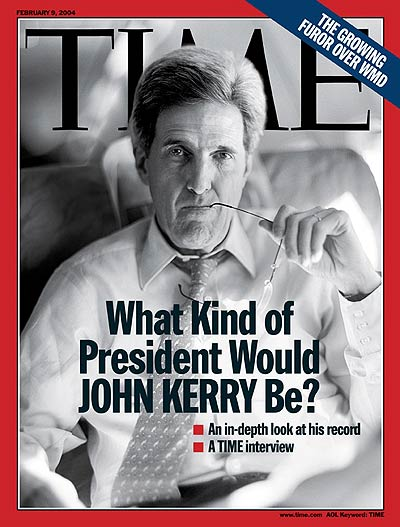 Democratic presidential hopeful John Kerry, from Contact.
