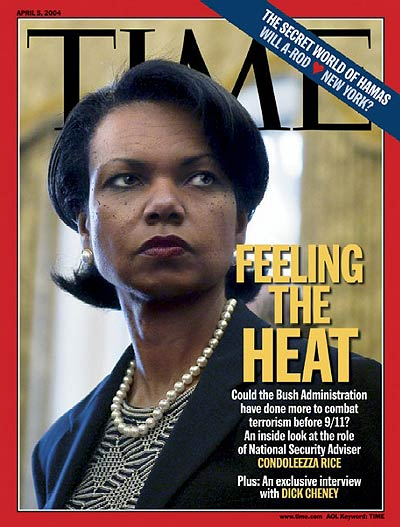 Feeling the Heat.' Photograph of National Security Adviser Condoleezza Rice by Christopher Morris-VII