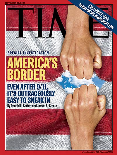 TIME Magazine Cover: America's Border -- Sep. 20, 2004