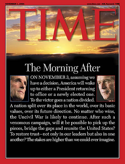 TIME Magazine Cover: The Morning After -- Nov. 1, 2004