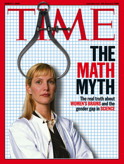 TIME Magazine Cover: Women and the Math Myth -- Mar. 7, 2005