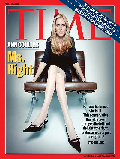 TIME Magazine Cover: Ann Coulter: Ms. Right -- Apr. 25, 2005