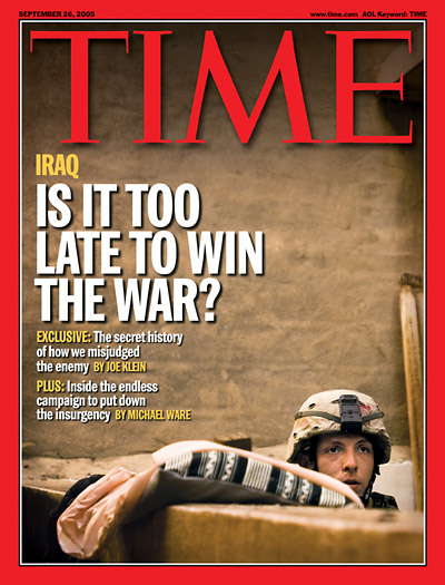 TIME Magazine Cover: Is It Too Late To Win the War? -- Sep. 26, 2005