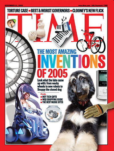 TIME Magazine Cover: The Most Amazing Inventions of 2005 -- Nov. 21, 2005