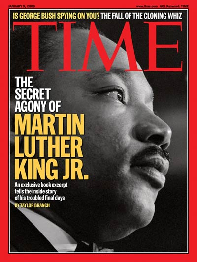 TIME Magazine Cover: The Secret Agony of Martin Luther King Jr. -- Jan. 9, 2006