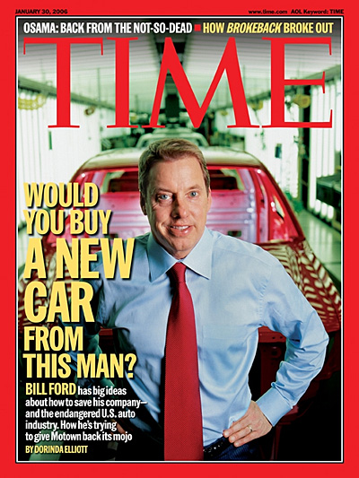 TIME Magazine Cover: Would You Buy A New Car from This Man? -- Jan. 30, 2006